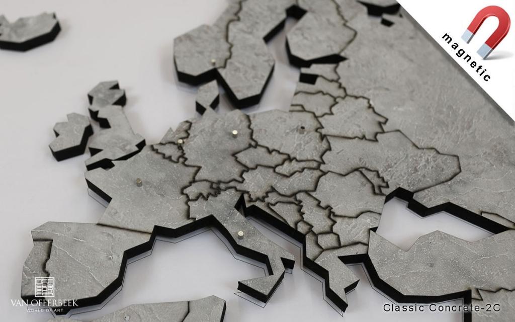 Concrete look World map