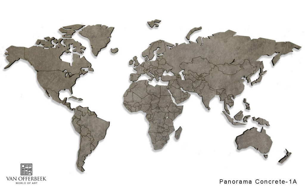 Concrete look World map – Exclusive WORLD MAPS